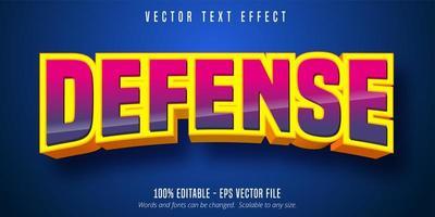 défense incurvée effet de texte dégradé rose et violet vecteur