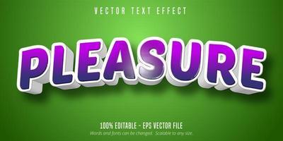 plaisir effet de texte courbe violet vecteur