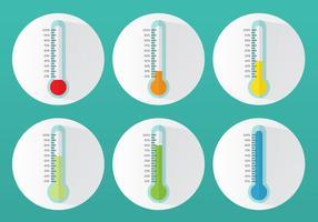 Thermomètre à objectifs plats vecteur