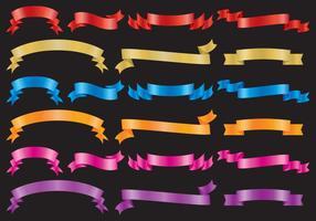 Bandes colorées vecteur