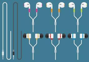 Écouteurs modernes vecteur