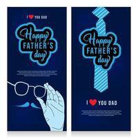 bannière verticale de modèle de fête des pères heureux