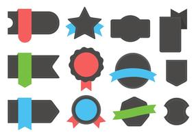 Badges vectoriels vecteur