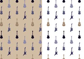 Vecteur de motif de guitare gratuit