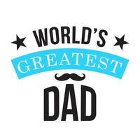 plus grande typographie de papa au monde avec moustache vecteur