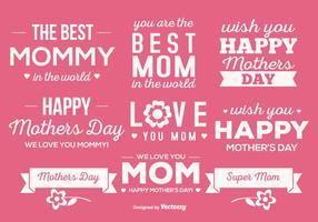 Ensemble mignon d'étiquettes pour la fête des mères