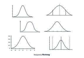 Vecteur de courbe de cloche