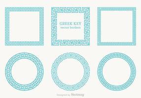 Frontières vectorielles clés grecques gratuites vecteur