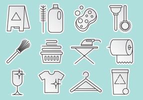 Vecteurs d'icônes de nettoyage