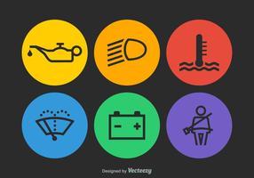 Icônes de tableau de bord de voiture de vecteur gratuit