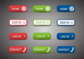 Free web buttons set 14 vector