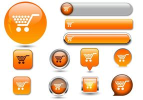Free Web buttons set 06 vector