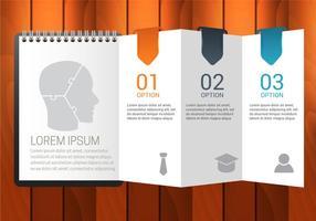 Vector d'infographies d'agenda gratuit