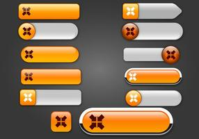 Free Web buttons set 17 vector