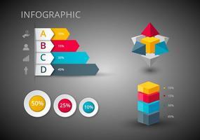 Vecteurs de conception d'infographies gratuits vecteur