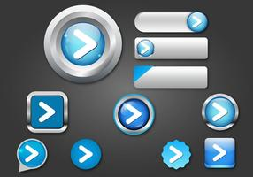 Free Web buttons set 07 vector