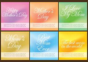 Modèles de la fête des mères vecteur