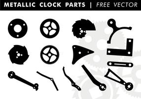 Pièces d'horloge métallique vecteur gratuit