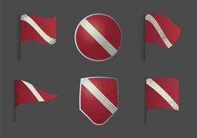 Free Dive Flag Illustration Vectorisée vecteur