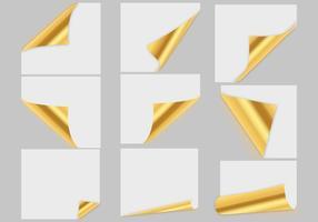 Vecteur en papier doré gratuit