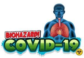 Covid 19 avec les poumons humains vecteur