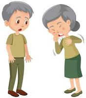 vieille dame propager le coronavirus vecteur