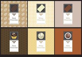 Étiquettes de chocolat vecteur