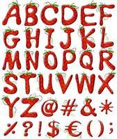 lettres alphabets fraise