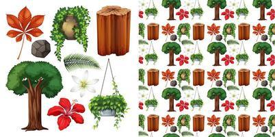 fond isolé verdure objets isolés vecteur