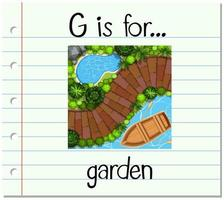 g est pour le jardin vecteur