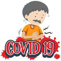 Covid-19 signe avec un homme âgé malade