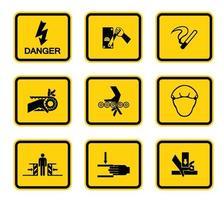 avertissement danger carré symboles étiquettes signe