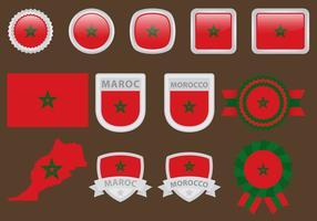 Drapeaux de Maroc vecteur