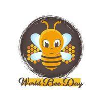abeille et fond grunge pour la célébration