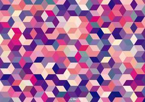 Contexte des cubes colorés abstraits vecteur