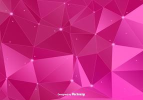 Fond d'écran polygonal rose vecteur