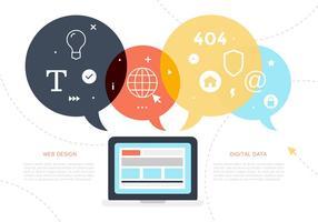 Illustrations numériques gratuites de données numériques