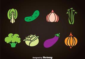 Ensembles vectoriels de légumes vecteur