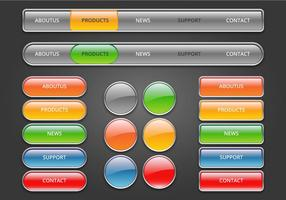 Free web buttons set 03 vector