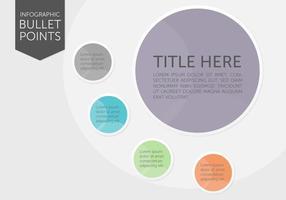 Points de balle infographique vecteur