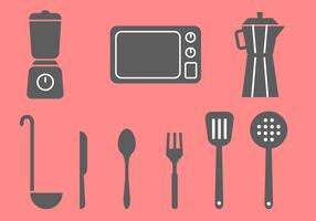Vecteur gratuit d'éléments de cuisine