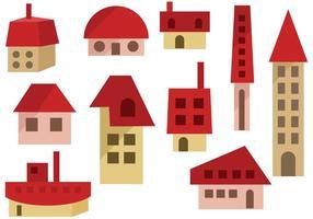 Vecteurs de maisons libres vecteur