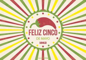 Illustration rétro de Cinco de Mayo vecteur