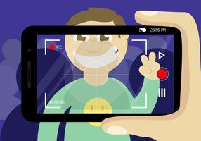 Viseur Vidéo Smartphone Vector Free