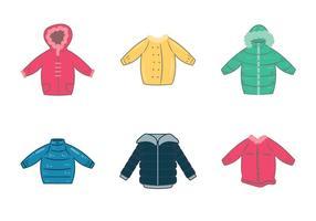 Illustration vectorielle gratuite de manteau d'hiver vecteur