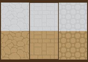 Textures de mur en pierre vecteur