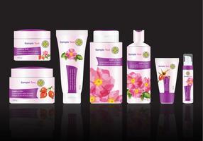Pack de traitement floral vecteur