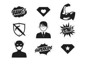 Icône des super-héros vecteur