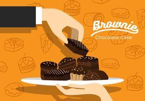 Vecteur brownie