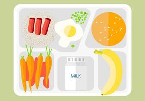 Vecteur d'icône de plateau de nourriture gratuite